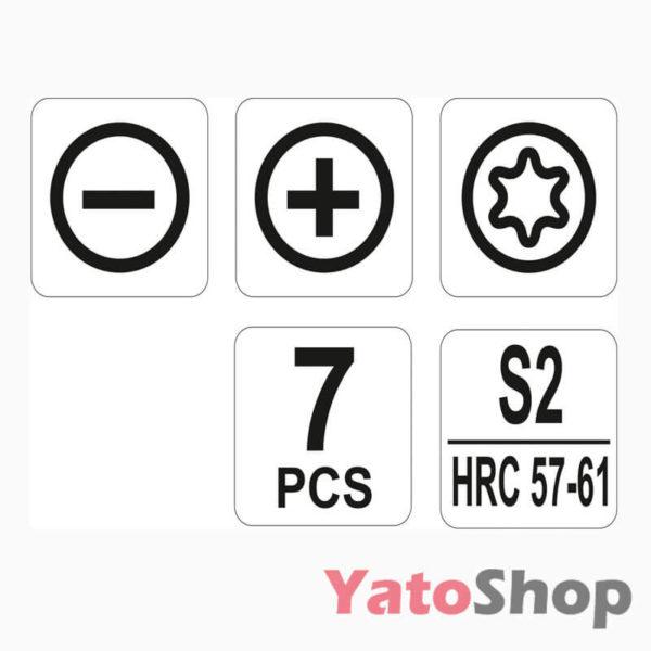 Набір викруток для точних робіт 7 предметів YT-25863 Рівне