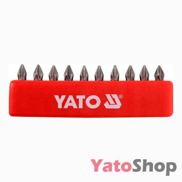 Набори біт хрестових PH1 25мм 10шт YT-0474 Yato Рівне