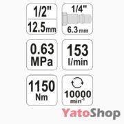 Пневматичний гайковерт для СТО Yato YT-09540 ціна