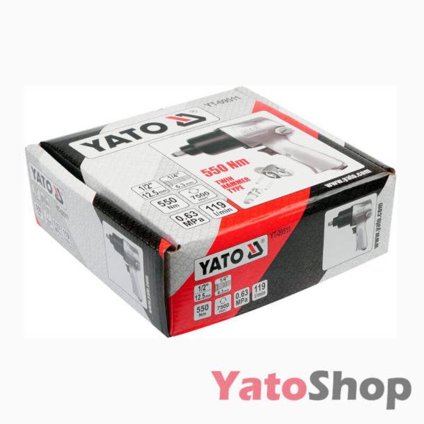 Пневматичний ударний гайковерт 550NM Yato YT-09511 фото