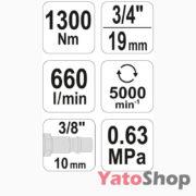 Пневматичний ударний гайковерт Yato YT-09564 ціна