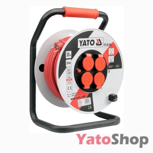 Подовжувач на котушці 40м 3G 2.5мм2 YT-8107