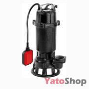 Погружний чавунний фекальний насос для каналізації з подрібнювачем 750Ватт Yato YT-85350