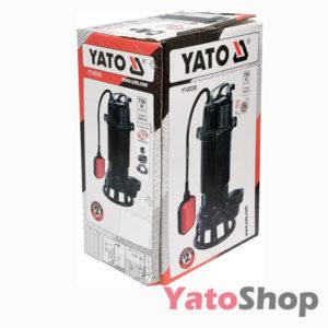Погружний чавунний фекальний насос для каналізації з подрібнювачем 750Ватт Yato YT-85350 Львів