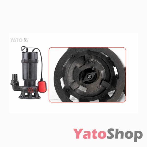 Погружний чавунний фекальний насос для каналізації з подрібнювачем 750Ватт Yato YT-85350 Рівне