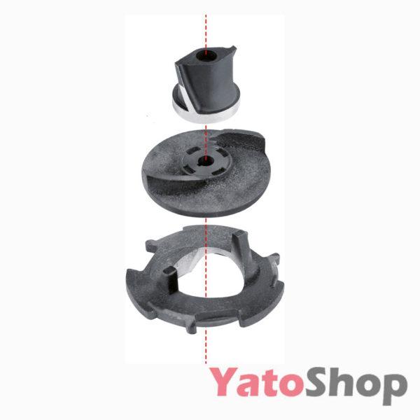 Погружний чавунний фекальний насос для каналізації з подрібнювачем 750Ватт Yato YT-85350 ціна