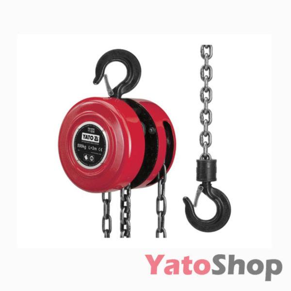 Професійна ланцюгова таль 0,5т з ручним приводом Yato YT-5890