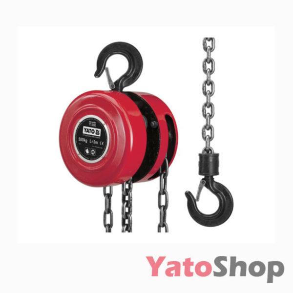 Ручна ланцюгова таль для СТО 1 тонна Yato YT-5892