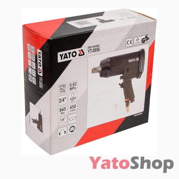 Ударний професійний пневматичний гайковерт Yato YT-0956